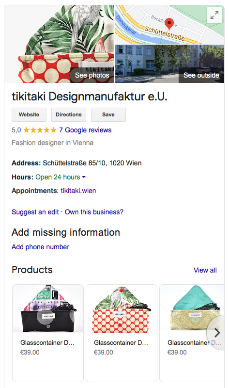 tikitaki auf Google