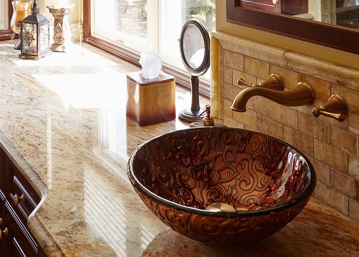 Bronze sink bowl