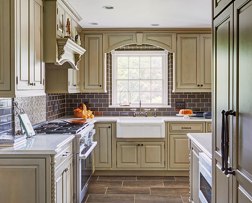 White Remodeled Kitchen featuring Cabinets