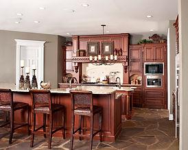 Remodeled dark wood kitchen