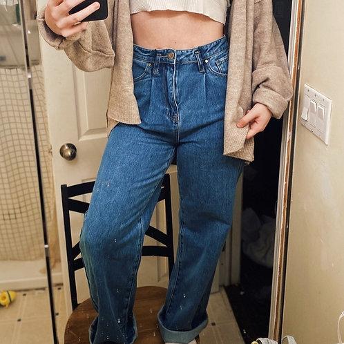 Straight High Rise Denim Jean