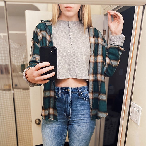 Distressed Plaid Shirt