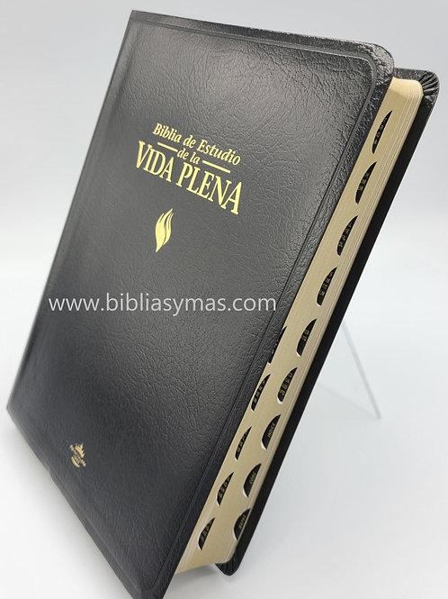 BIBLIA DE ESTUDIO VIDA PLENA RV1960 IMITACION NEGRO