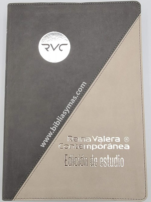"""Biblia de Estudio Reina Valera Contemporanea RVC GRIS """"Con tu nombre Grabado"""""""