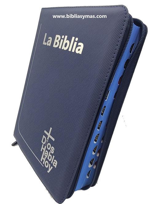 B. Dioshabla hoy letra gigante Deuterocanonicos Azul con zipper Index
