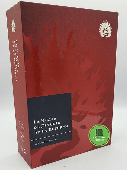 Biblia de Estudio de La Reforma LBLA Tapa Dura Burgundy
