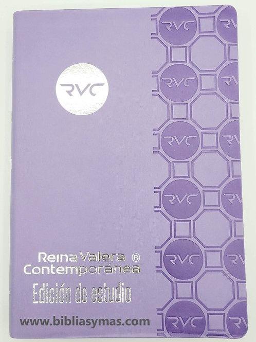 Biblia de Estudio Reina Valera Contemporanea RVC MORADO