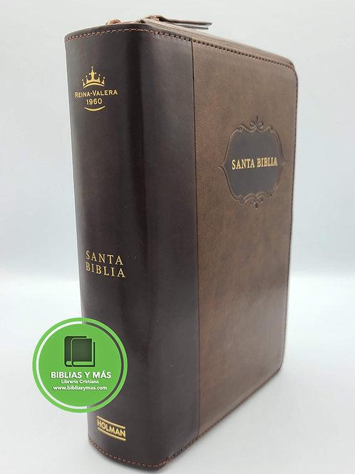 Biblia Letra Grande con Forro Organizador 1960 CAFE  INDEX