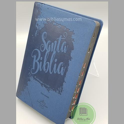 BIiblia Reina Valera 1960 Letra Grande Juvenil Imit. Azul