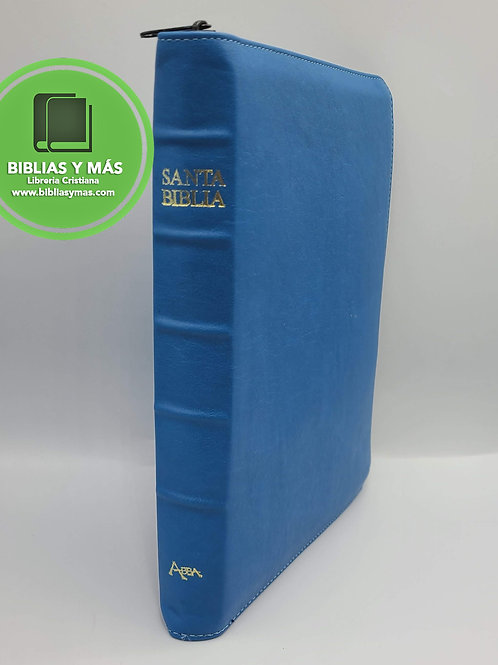 Biblia Lenguaje Actual Letra Gigante Imit Piel Ziper Duque