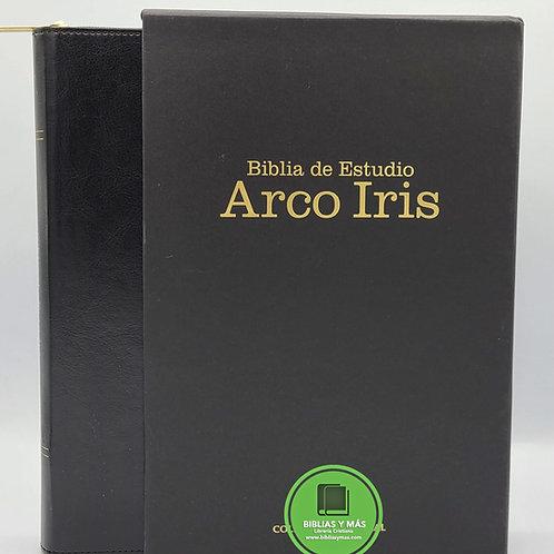 Biblia de estudio Arcoiris Negro Ziper e Index