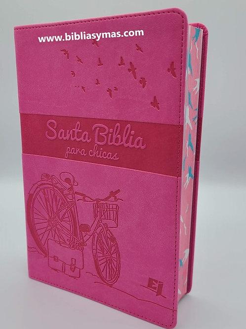 Biblia Para Chicas NVI Piel Italiana Rosado
