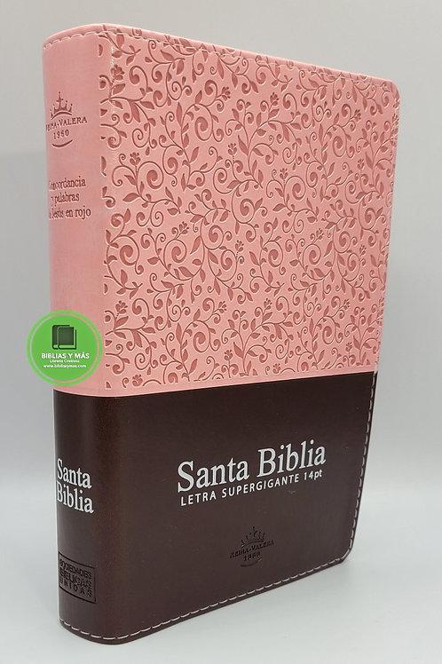 Biblia Letra Gigante 14 Puntos ROSADO/CAFE Index