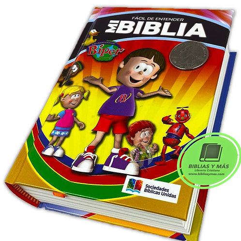Biblia Infantil Para Niños Ilustrada Facil de Leer en Lenguaje Actual TLA Biper