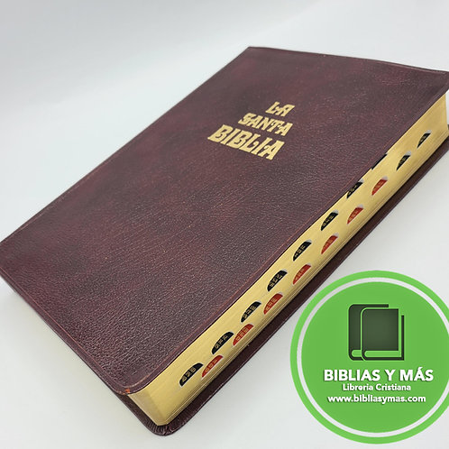 Biblia Antigua Version Valera 1602 Imit Piel Marron Index