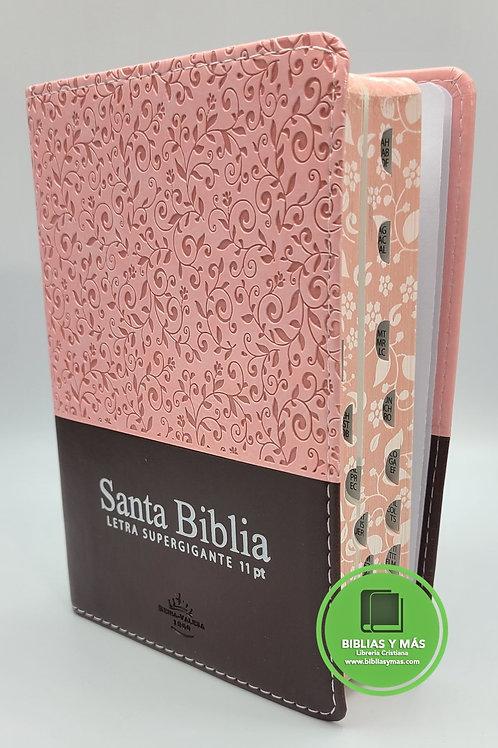 Biblia Chica Reina Valera 1960 Letra 11 Puntos 1960 Rosado/Cafe Index