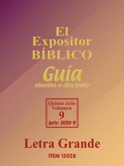 Expositor Alumno II 2020 Letra Grande