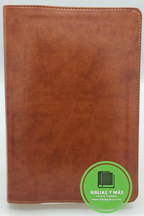 KJV Large Print Ultrathin Reference Bible Brown Index