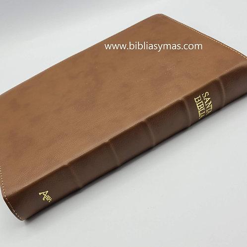 Biblia Lenguaje Actual Letra Gigante Piel Genuina Miel