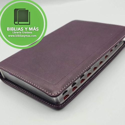 B. Compacta Letra Grande RVR1960 Piel genuina Morado Index