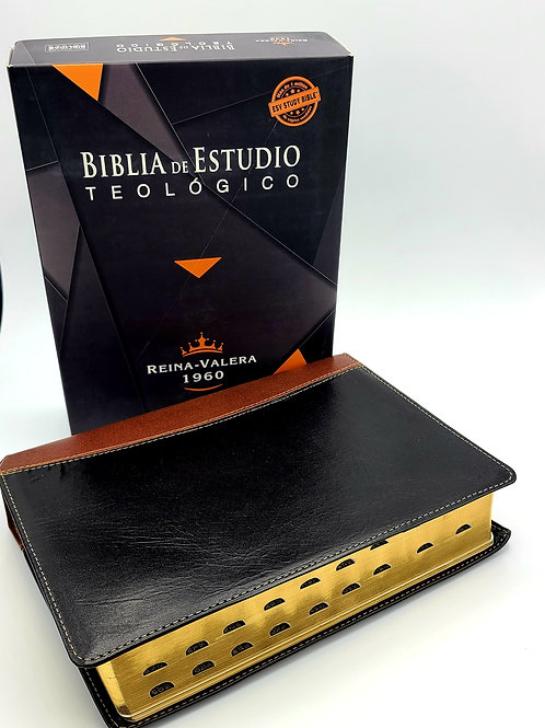 Biblia De Estudio Teologico Reina Valera 1960 Piel Genuina