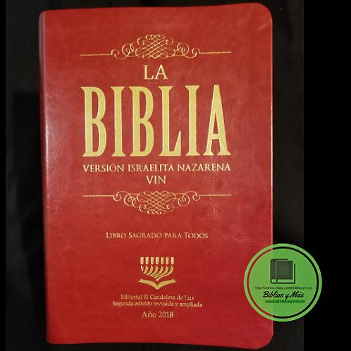 Biblia Version Israelita Nazarena Letra Grande Edicion 2018 rojo