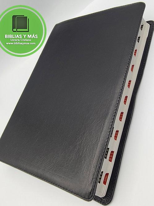 BIBLIA LETRA SUPER GIGANTE RVR1960 PIEL 100% GENUINA NEGRO INDEX