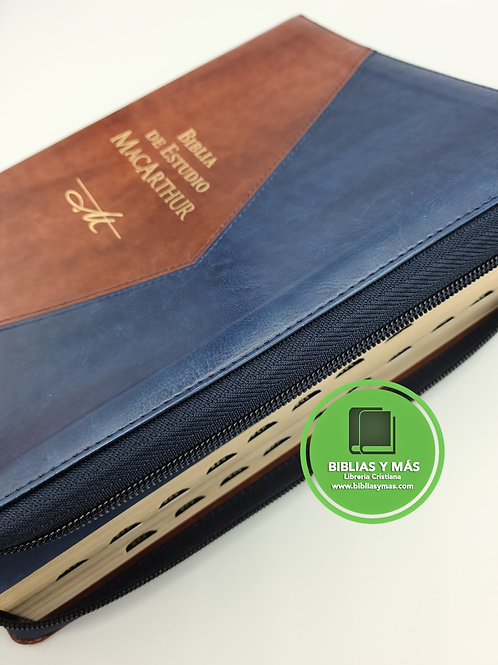 Biblia de Estudio Macarthur Letra Grande 11 Puntos Ziper
