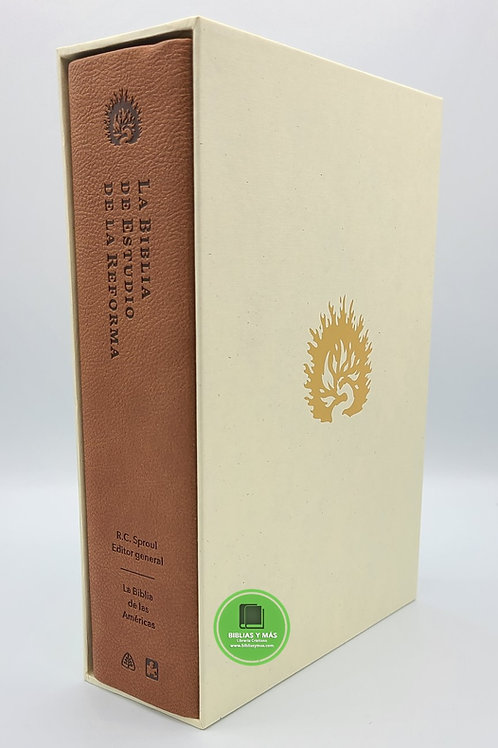 Biblia de Estudio de La Reforma LBLA Imitación Piel Café