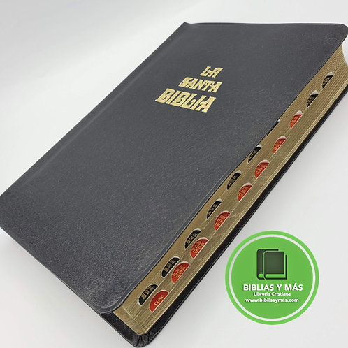 Biblia Antigua Version Valera 1602 Imit Piel Negro Index