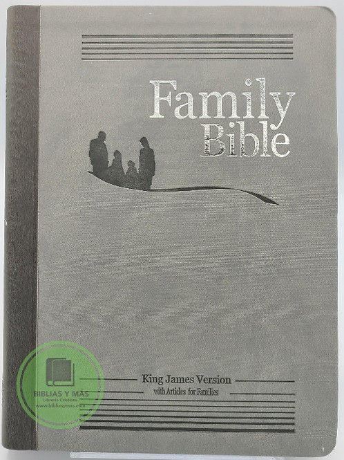 Family Bible Study KJV, GREY duotone With Index
