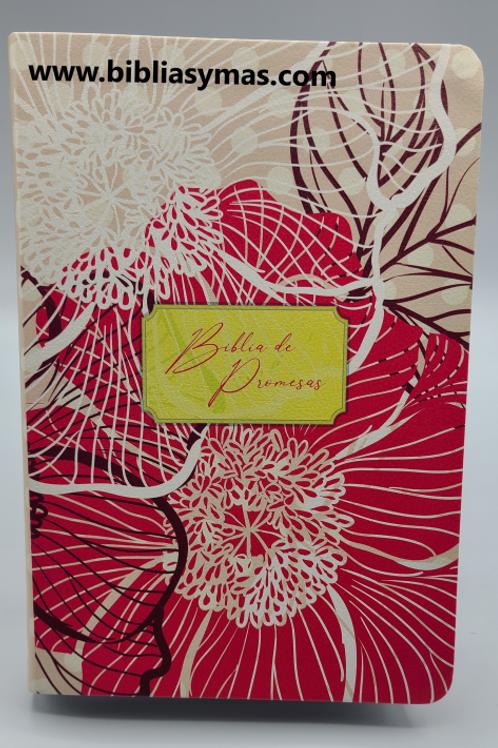 Biblia de promesas letra grande RVR1960 Floral con Index