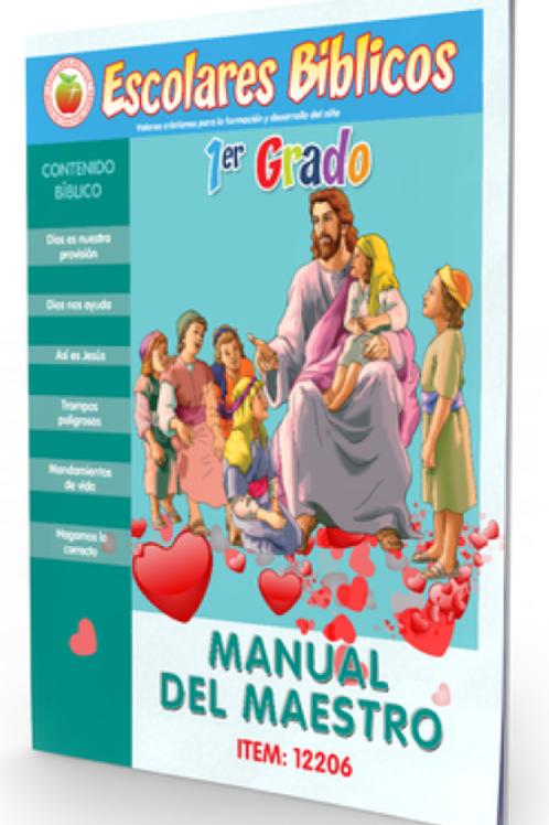 """Escolares Biblicos """"1er Grado 6 años"""" Maestro y Alumno Set de 2 Libros"""