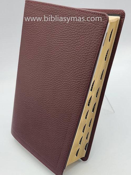 Biblia de Estudio Macarthur RV1960 Piel pura Rojo 100% Encuadernado a Mano