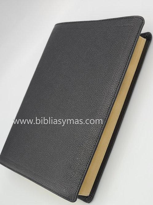 Biblia de Estudio Plenitud RV1960 Piel 100% pura Negro