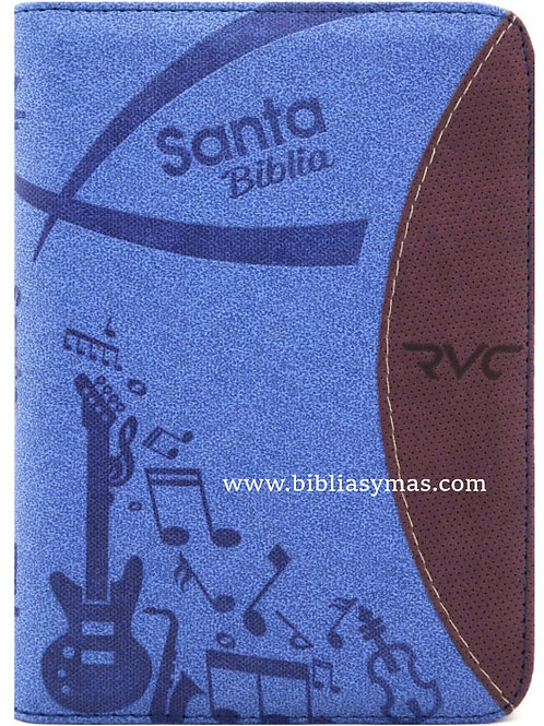 Biblia Pequeña Reina Valera Contemporanea RVC Azul Zipper e Index