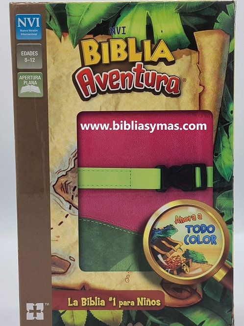 BIBLIA AVENTURA PARA NIÑAS NVI VERSION INTERNACIONAL ROSADO