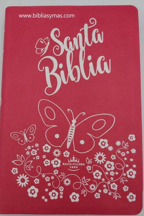 Biblia Para Mujer Reina Valera 1960 Letra Grande Rosado