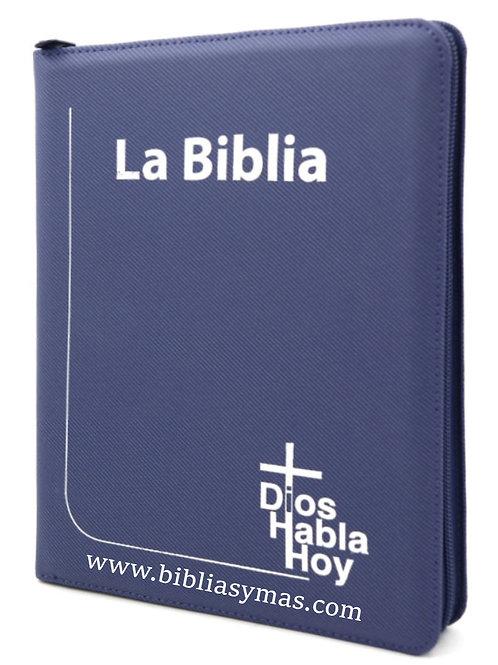 B. Dioshabla hoy letra gigante Deuterocanonicos Azul con zipper
