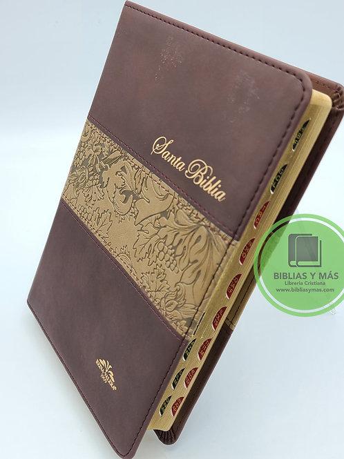 Biblia Antigua Version 1909 Tamaño Manaul Cafe con Index