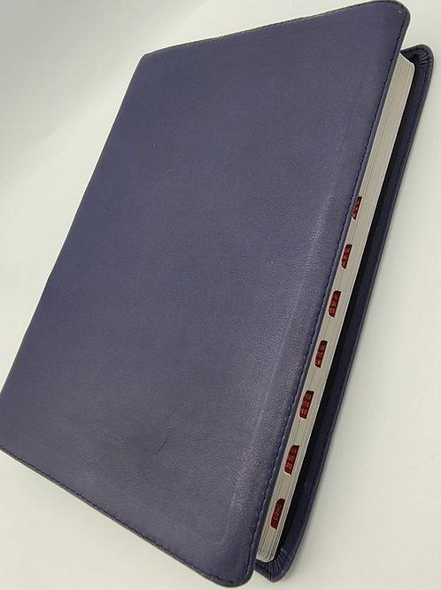 BIBLIA LETRA SUPER GIGANTE RVR1960 PIEL 100% GENUINA AZUL INDEX