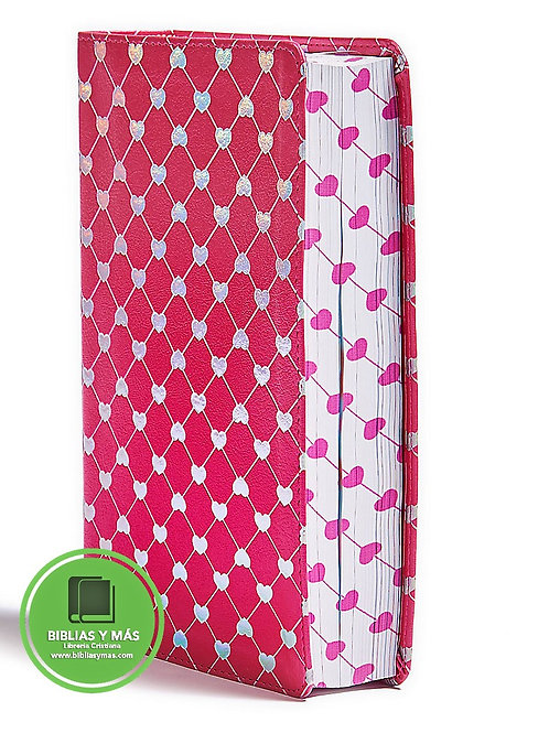 CSB Kids Bible Shiny Hearts LeatherTouch