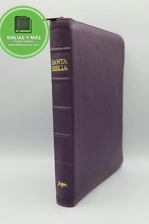 Biblia Lenguaje Actual Letra Gigante Imit Piel Ziper Morado