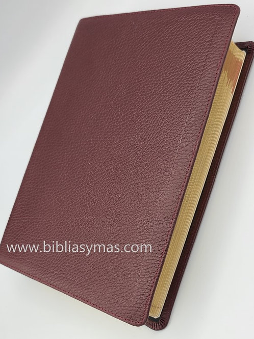 Biblia de Estudio Mathew Henry RVR Piel 100% pura Burgundy