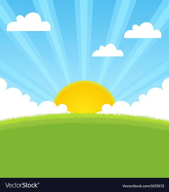 summer-landscape-with-sun-and-blue-sky-v