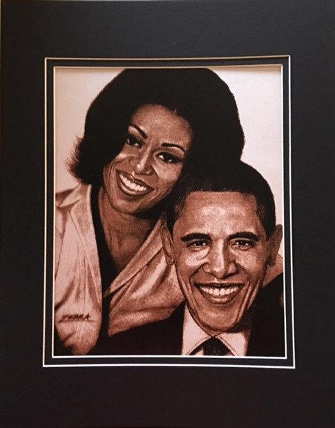 The Obamas 8 1/2 x11