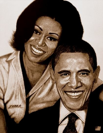 The Obamas 5x7
