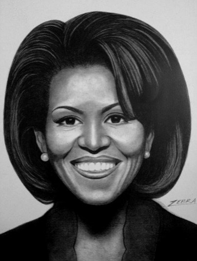 First Lady Michelle Obama 8 1/2 x11