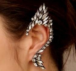 Exotic Crystal Ear Clip