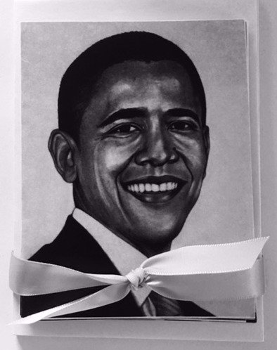 President Barack Obama Note Cards